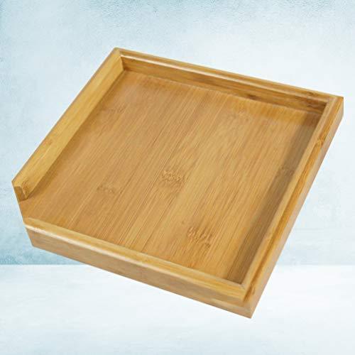 TOPBATHY 茶皿竹茶サービングプレート四角形ティーコーヒープラッター木製ティーボード多目的サービング皿オ?|ranchan-tsuyoshi|10