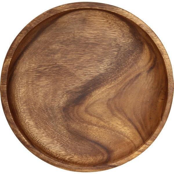 木製食器 木製プレート トレイ アカシア ラウンドトレイL 70192 95847 キッチン雑貨 食卓 食器 お洒落 おしゃれ rankup 02