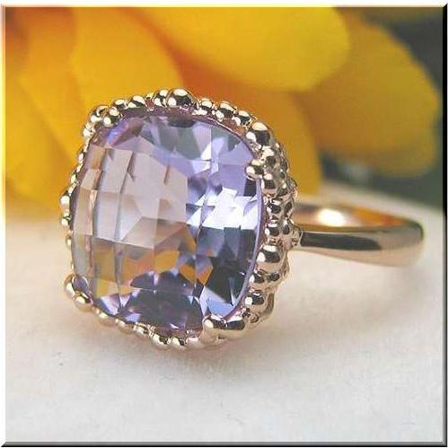 ファッション 2月の誕生石 大粒 アメジスト リング K18PG ピンクゴールド ローズアメジスト 4.3ct リング 4.3ct リング 指輪 紫水晶 指輪 紫水晶, 【中古】:b4f6ade1 --- airmodconsu.dominiotemporario.com