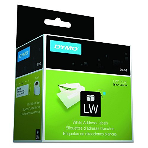 DYMO 30252 LabelWriter Adhesive White Address Labels (Pack of 10) For use with LabelWriter 450, LabelWriter 450 Turbo and LabelWriter 450 Twin Turbo A