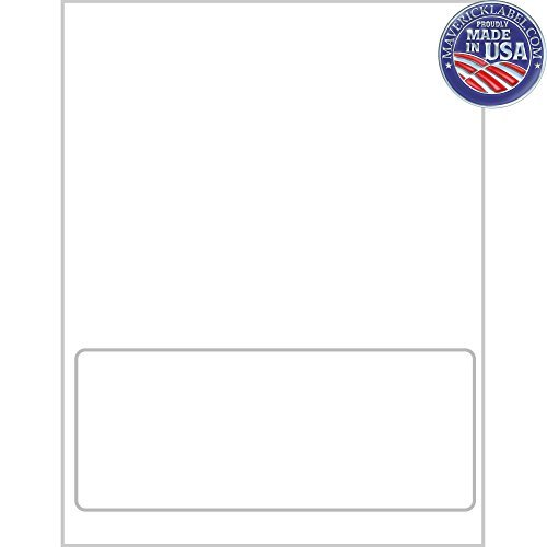 """Mailing Labels FC-0006 · Integrated Label Sheets · 1 Up Labels, 8"""" x 3 1/2"""" Labels - can be Used as Personalized Labels, Custom Labels, Packin"""