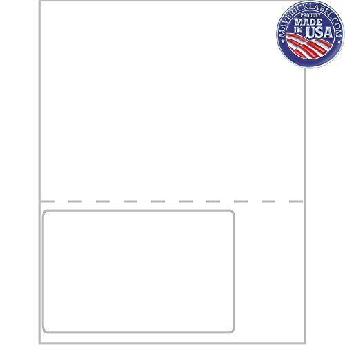 """Mailing Labels FC-0017 · Integrated Label Sheets · 1 up Labels 6""""x4"""" Full Perforated Sheet - can be Used as Personalized Labels, Custom Labels, Pa"""