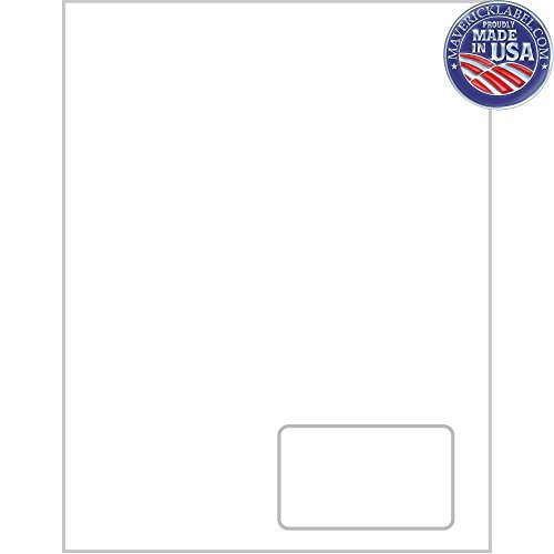 """Mailing Labels · FC-0008 Integrated Label Sheets · 1 Up Labels, 3 1/2""""x2"""" Labels - can be Used as Personalized Labels, Custom Labels, Packing Slip"""