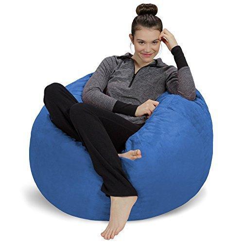 Sofa Sack - Plush, Ultra Soft Bean Bag Chair - Memory Foam Bean Bag Chair with Microsuede Cover - Stuffed Foam Filled Furniture and Accessor