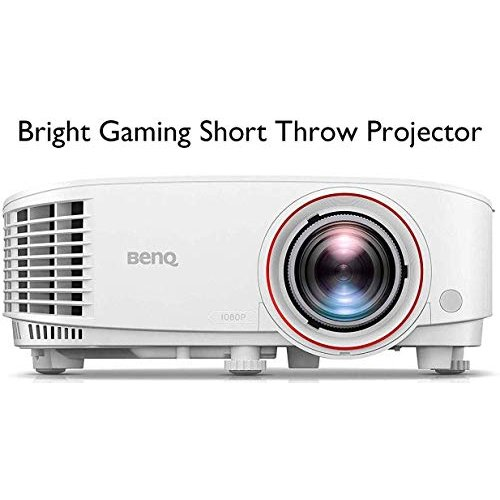 BenQ TH671ST 1080p Short Throw Gaming Projector | Gaming Mode for Intense Low Input Lag Action | 3000 Lumens for Lights On Entertainment | 92% Rec. 70