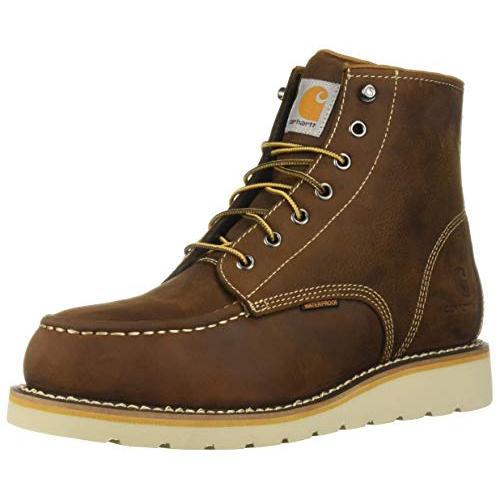 Carhartt Men's 6 Inch Waterproof Wedge Steel Toe Work Boot, Brown Oil Tanned, 10.5 M US【並行輸入品】