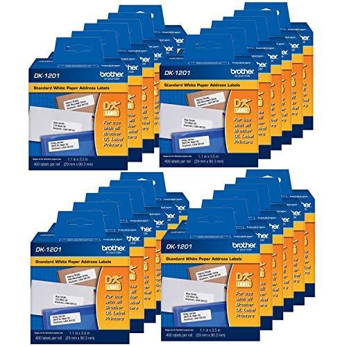 "DK-1201 Die-Cut Standard Address Labels · Long Lasting Reliability, Die-Cut Standard Address Paper Labels, 1.14"" x 3.5"" Individual Label Size, 9"