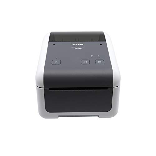 Brother TD4420DN 4-inch Thermal Desktop Barcode and Label Printer, for Labels, Barcodes, Receipts and Tags, 203 dpi, 8 IPS, Standard USB and Serial, E
