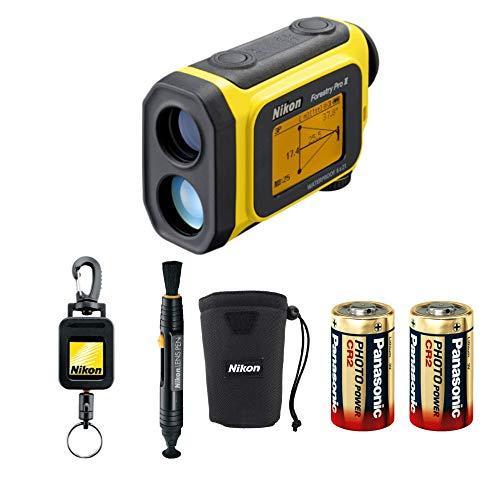 Nikon Forestry Pro II Laser Rangefinder Bundle with Lens Pen, Retractable Rangefinder Tether, and 2 Spare Batteries (5 Items)【並行輸入品】
