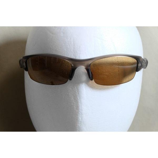 オークリー フラックジャケット 偏光レンズ サングラス OAKLEY FLAK JACKET ブラウン 12-902 褐色 smoke Polarized Lenses