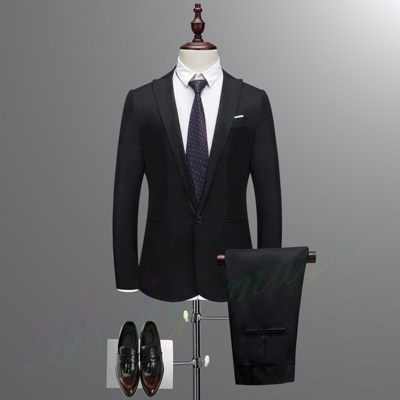 ビジネススーツ メンズ スーツ セットアップスーツ スーツ フォーマル スリム 紳士服 結婚式 成人式 2点セット|raro