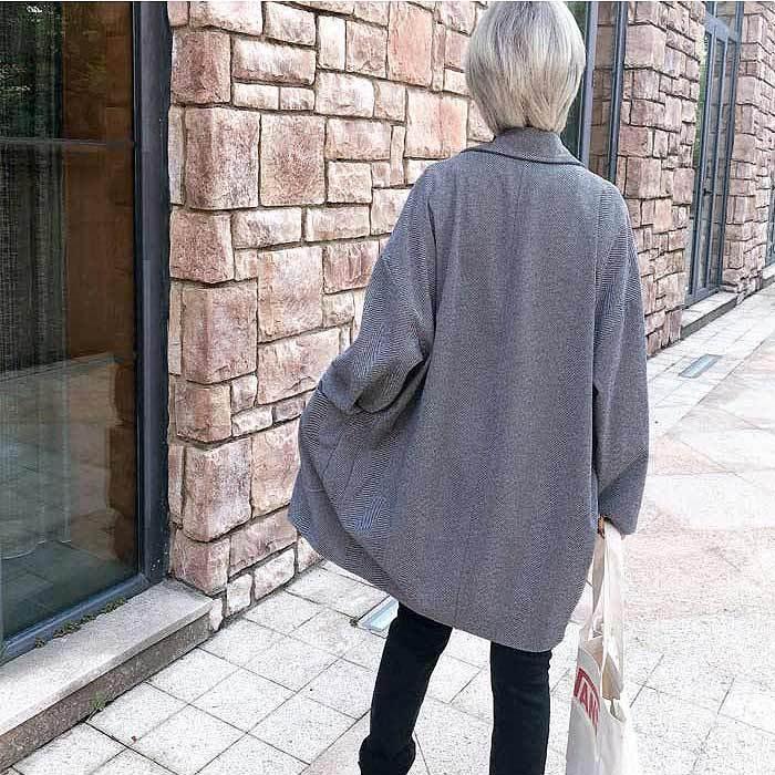コート 軽い レディース 韓国 ラシャコート アウター 裏起毛 カジュアル ゆったり大きめ^jk108^|raspberryy|12