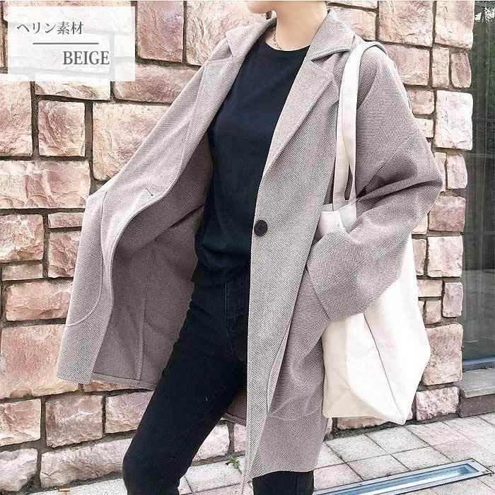 コート 軽い レディース 韓国 ラシャコート アウター 裏起毛 カジュアル ゆったり大きめ^jk108^|raspberryy|14