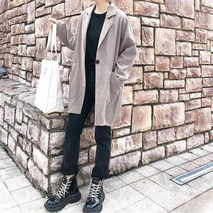 コート 軽い レディース 韓国 ラシャコート アウター 裏起毛 カジュアル ゆったり大きめ^jk108^|raspberryy|15