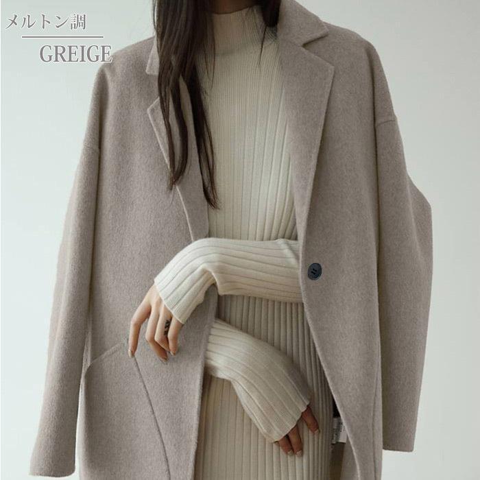 コート 軽い レディース 韓国 ラシャコート アウター 裏起毛 カジュアル ゆったり大きめ^jk108^|raspberryy|03