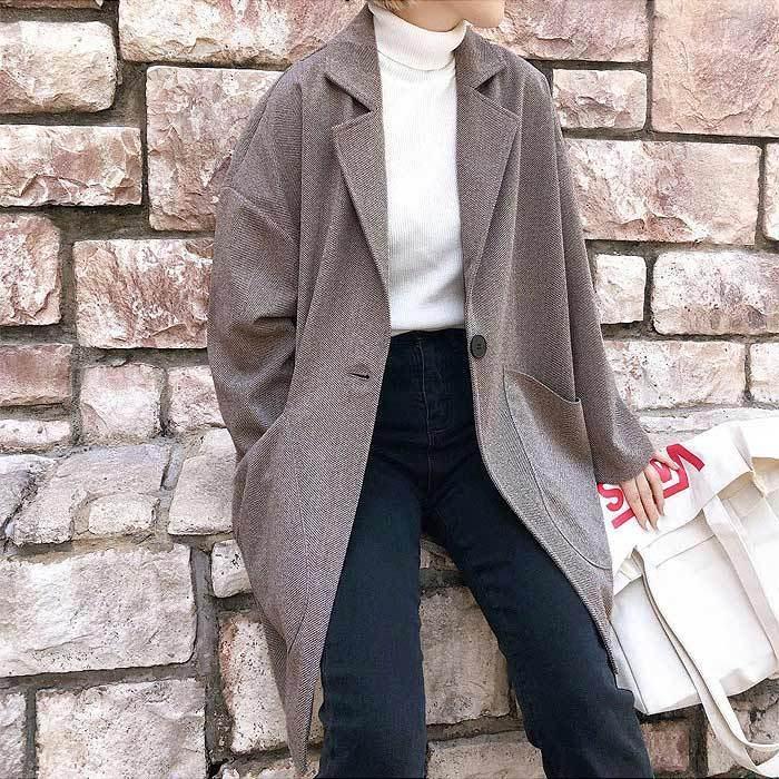 コート 軽い レディース 韓国 ラシャコート アウター 裏起毛 カジュアル ゆったり大きめ^jk108^|raspberryy|09