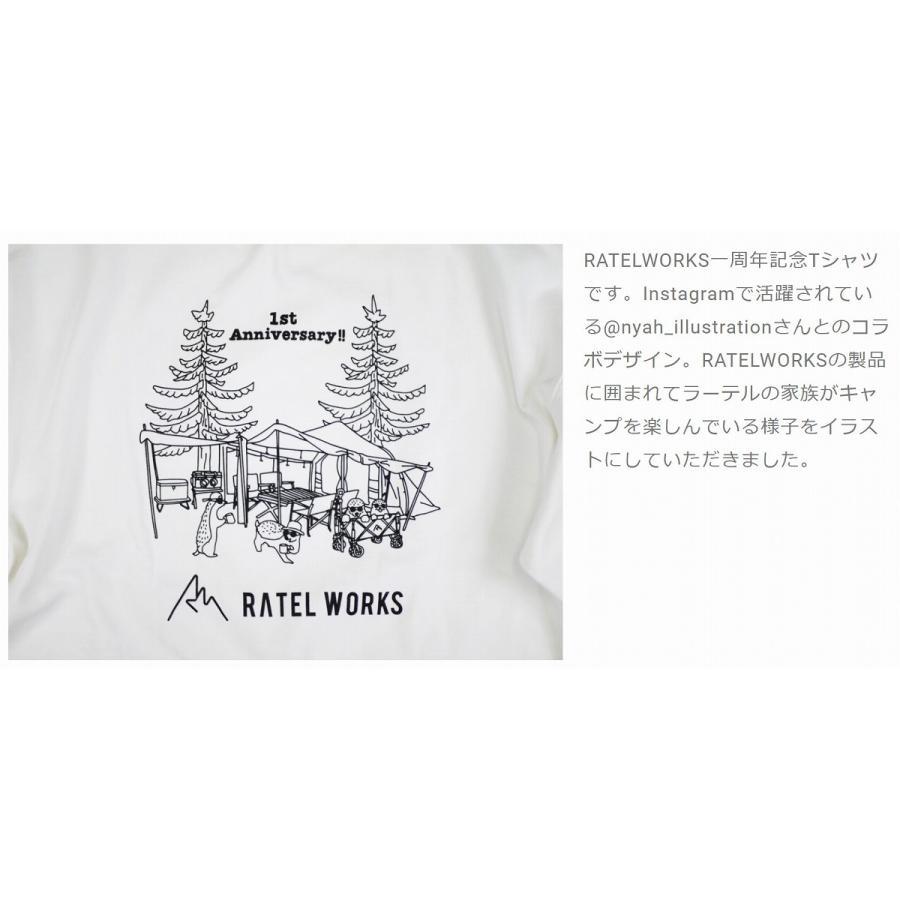RATELWORKS ラーテルワークス 1TH ANNIVERSARY T-SHIRT(1周年記念Tシャツ) メンズ&レディース 男女兼用(RWS0046)|ratelworks|03