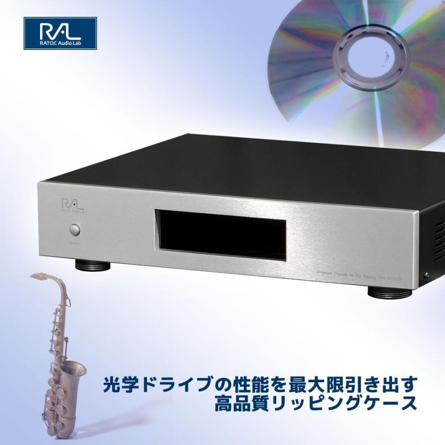 CDリッピング用 制振強化 5インチドライブ プレミアムケース RAL-EC5U3P|ratoc