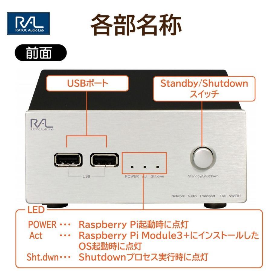 様々なプレーヤーに対応したネットワークオーディオトランスポートネットワークオーディオトランスポート RAL-NWT01PLUS ratoc 05