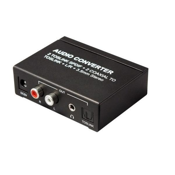 4入力3出力 オーディオコンバーター RP-ASW43 最大4台のデジタル音声をアナログや光デジタルに変換 4入力 3分配 ratoc 03