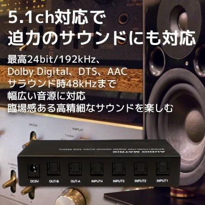 4入力2出力 光デジタル マトリクススイッチ RP-OPTSW42 分配器 スプリッター 2分配 セレクター 切替器 切り替え ホームシアター|ratoc|03