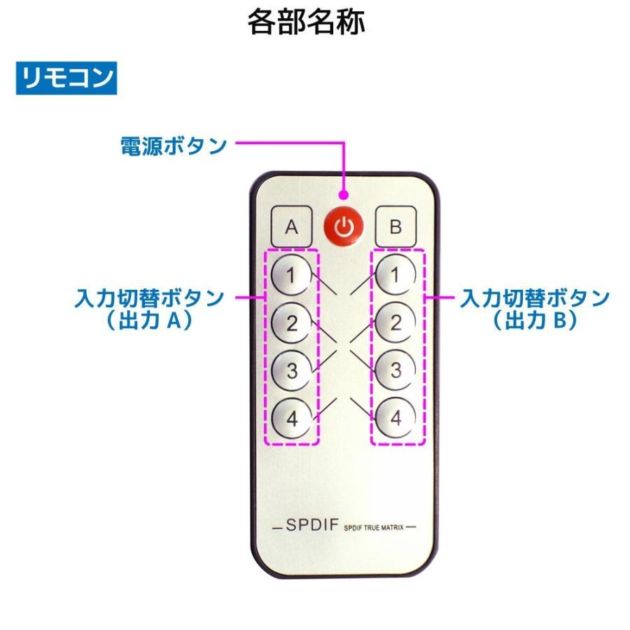 4入力2出力 光デジタル マトリクススイッチ RP-OPTSW42 分配器 スプリッター 2分配 セレクター 切替器 切り替え ホームシアター|ratoc|07