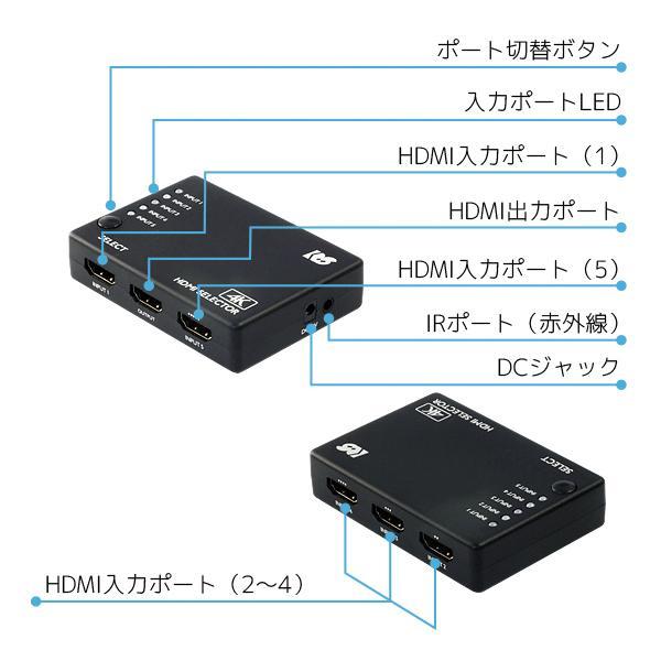 4K60Hz 対応 4入力1出力 HDMI 切替器 RS-HDSW41-4KA 120Hz Atmos DTS:X HDCP2.2 18Gbps HDR 4入力 リモコン セレクター|ratoc|12