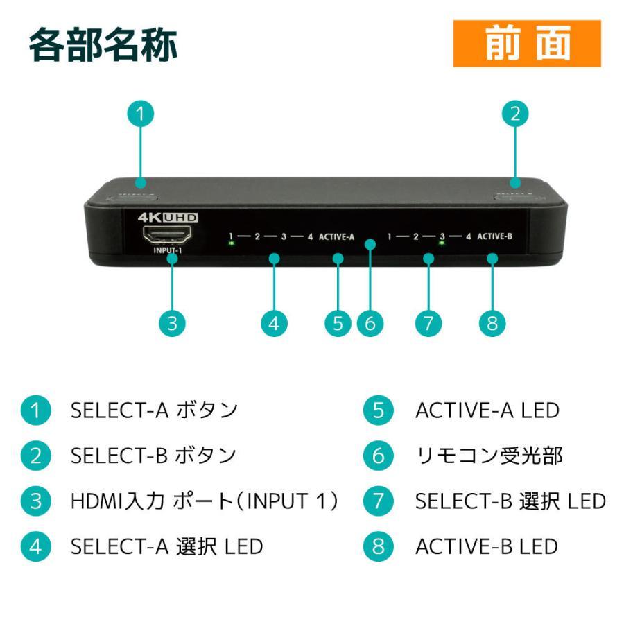 4K60Hz対応 4入力2出力HDMIマトリックススイッチ  RS-HDSW42-4K|ratoc|14