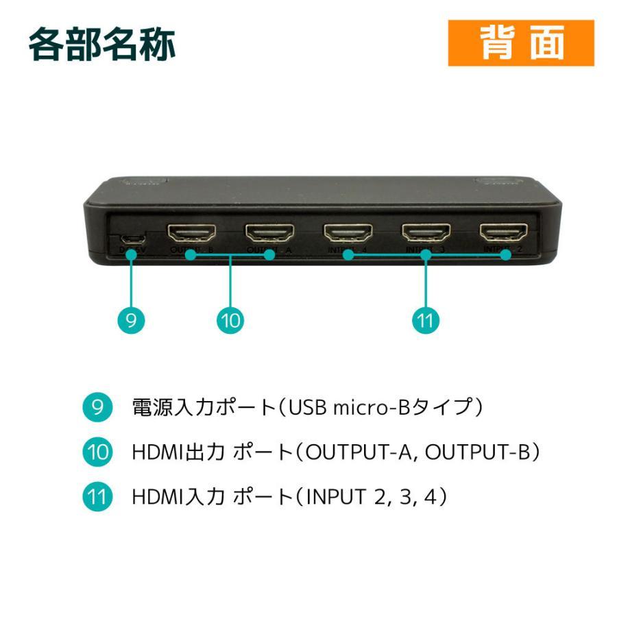 4K60Hz対応 4入力2出力HDMIマトリックススイッチ  RS-HDSW42-4K|ratoc|15