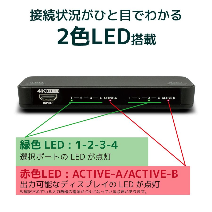 4K60Hz対応 4入力2出力HDMIマトリックススイッチ  RS-HDSW42-4K|ratoc|10