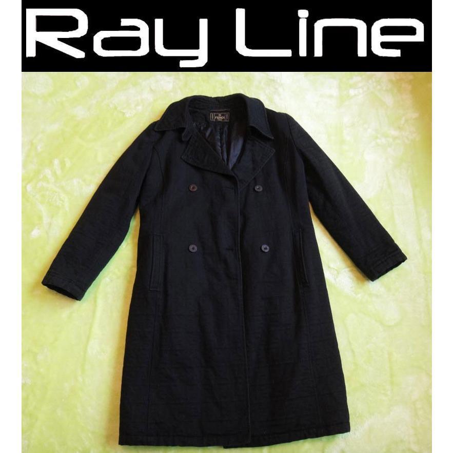 【日本未発売】 FENDI フェンディ コート 中綿 黒 サイズ40  _yo, 特価ブランド 462ec1d3