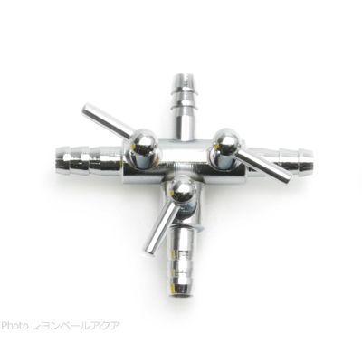 お取り寄せ中 エアーチューブ用3方コック 三又分岐 在庫あり 金属製 口径5mm 激安 激安特価 送料無料
