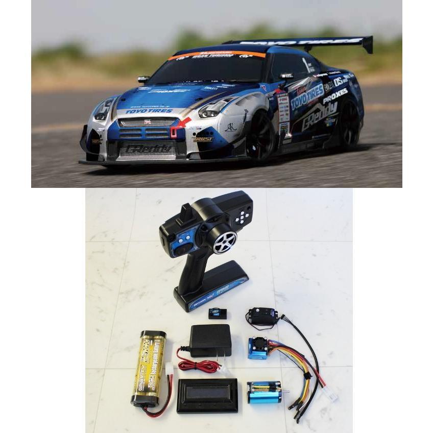 ヨコモ/DP-GR35-24BL/ドリパケ G赤dy R35 SPEC-D 2.4Gプロポ+ブラシレスシステム付セット(未組立品)