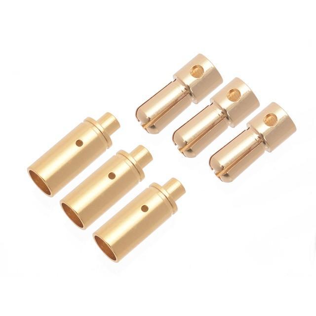 ネコポス対応 G-FORCE ジーフォース GA057 ブラシレスモーター用オスメス 定番から日本未入荷 品質保証 3.5mm コネクタセット 各3個入