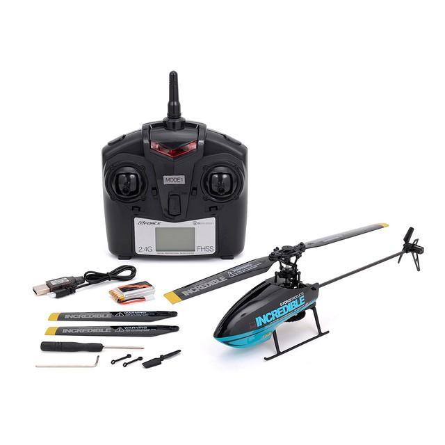 G-FORCE(ジーフォース)/GB141/INCREDIBLE 2.4GHz 4チャンネル フライバーレス ヘリコプター (ブルー) MODE1 RTFセット