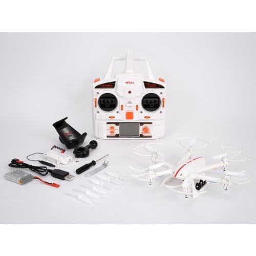 (在庫処分特価))G-FORCE(ジーフォース)/GM801/X800 2.4GHz 4ch ヘキサコプター カメラ付RTF(ホワイト)