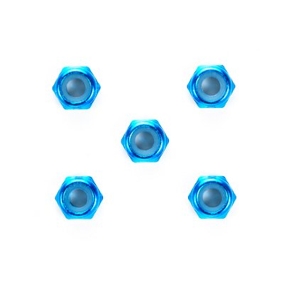 ネコポス対応 OP.1155 タミヤ 最安値 3mm アルミ薄型ロックナット ブルー 期間限定 5個