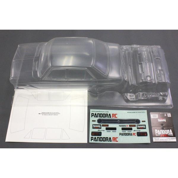 パンドラRC Pandora お金を節約 RC PAB-2144 永遠の定番モデル NISSAN サニー 未塗装 B110 クリアボディセット 4ドア