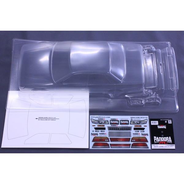 パンドラRC Pandora RC PAB-2155 NISSAN クリアボディセット NEW ローレル 未塗装 [正規販売店] C33