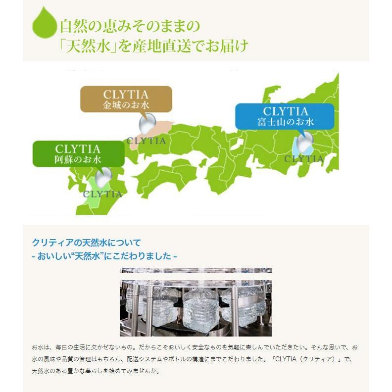 CLYTIAウォーターサーバー専用 CLYTIA クリティア 天然水 阿蘇のお水 富士山のお水 金城のお水 24L 12L×2個 プレミアムウォーター rcmdfa 03