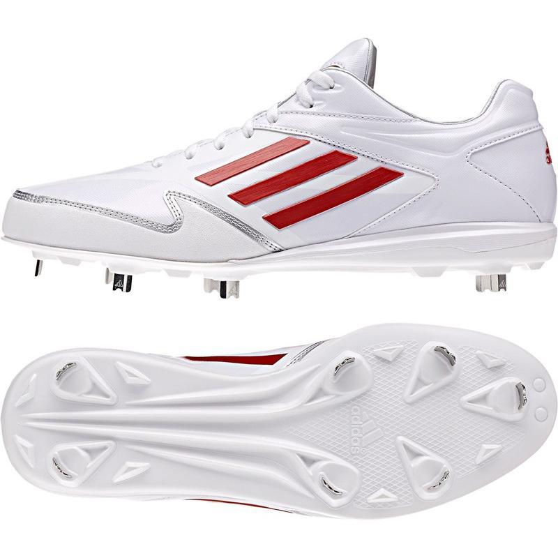 adidas アディダス adizero 5 low S85334 クリスタルホワイト/パワーレッド/パワーレッド サイズ245