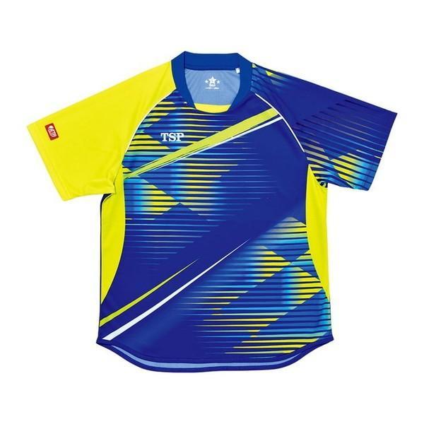 TSP 卓球ゲームシャツ クラッセシャツ 男女兼用 031425 カラー ブルー サイズ L