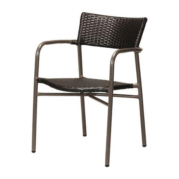ガーデン チェア アルミ製 クーポス ブラック 肘付き 完成品 ガーデンファニチャー ガーデンチェア 椅子 代引不可