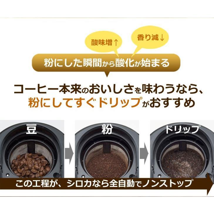 コーヒーメーカー 全自動 siroca シロカ crossline SC-A221SS シルバー コーヒー ステンレスメッシュフィルター 保温機能付き|rcmdhl|02