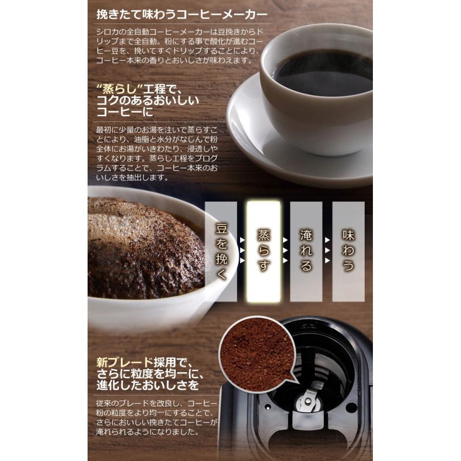 コーヒーメーカー 全自動 siroca シロカ crossline SC-A221SS シルバー コーヒー ステンレスメッシュフィルター 保温機能付き|rcmdhl|03