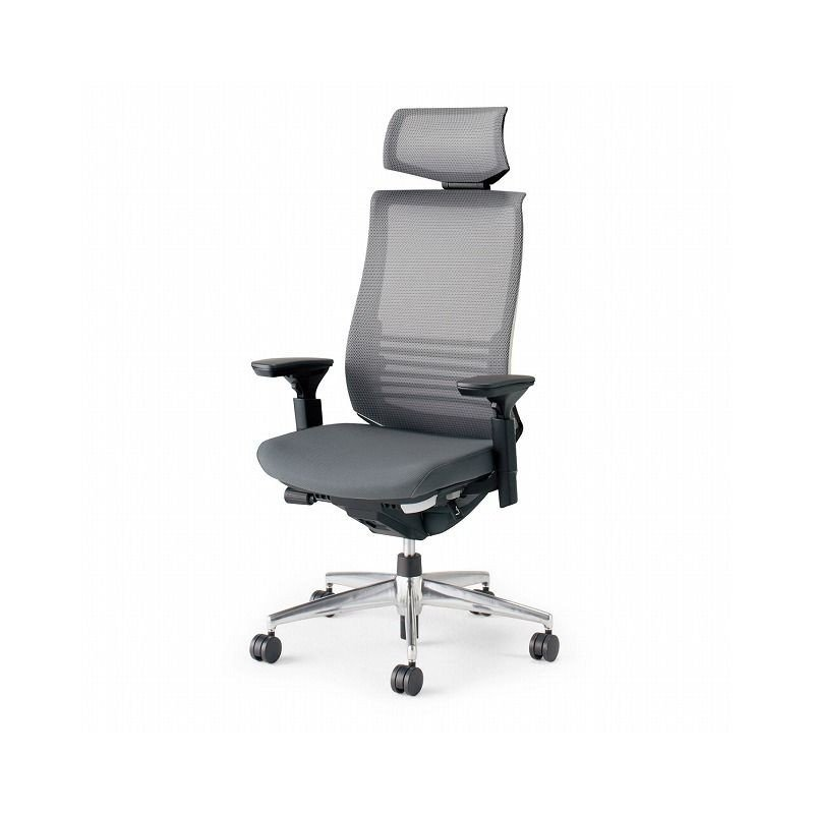 コクヨ オフィスチェア ベゼル CR-A2835E6GME3-W ヘッドレスト付 可動肘 カーペット用 配送・組立・設置込 代引不可