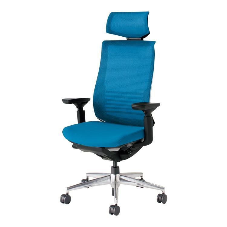 コクヨ オフィスチェア ベゼル CR-A2835E6GMT4-W ヘッドレスト付 ヘッドレスト付 可動肘 カーペット用 配送・組立・設置込 代引不可
