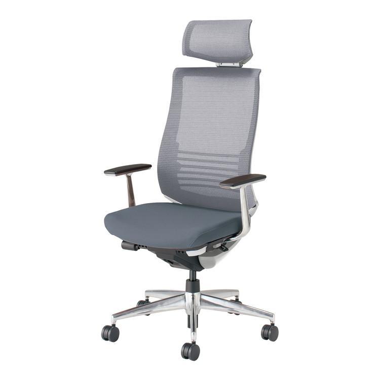 コクヨ オフィスチェア ベゼル CR-A2865E1GME3-W ヘッドレスト アルミ肘 カーペット用 配送・組立・設置込 代引不可