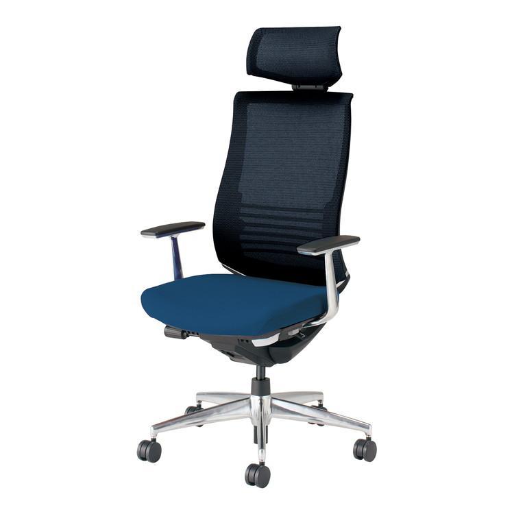 コクヨ オフィスチェア ベゼル CR-A2865E6CGMT6-V ヘッドレスト アルミ肘 フローリング用 配送・組立・設置込 代引不可