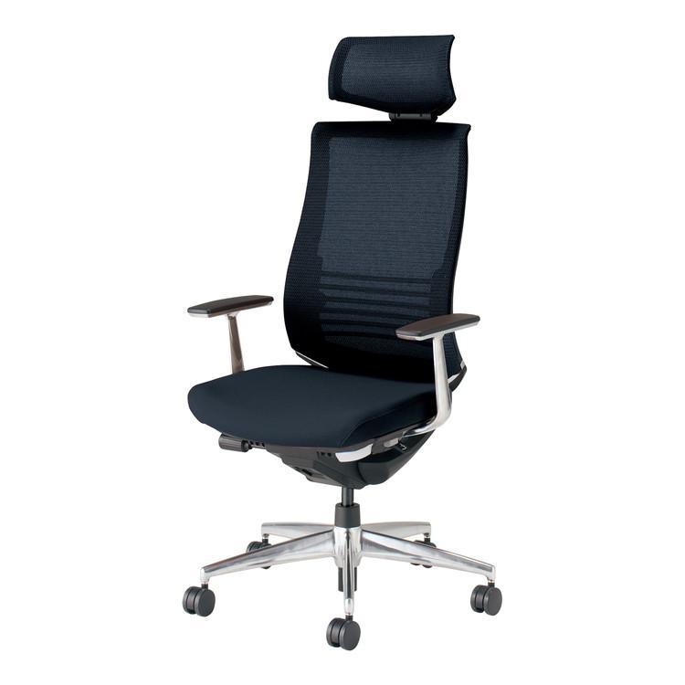 コクヨ オフィスチェア ベゼル CR-A2865E6GME6-V ヘッドレスト アルミ肘 フローリング用 配送・組立・設置込 代引不可